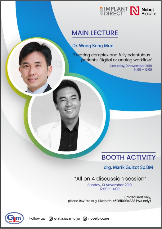 "Dr. Wong Keng Mun from Singapore with topic ""Treating Complex and Fully Edentulous Patients: Digital or Analog Workflow?"""